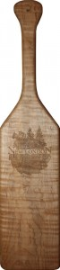 New London Wood Products Engraved Wood Paddle