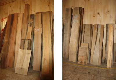New London Wood Products Lumber Selection